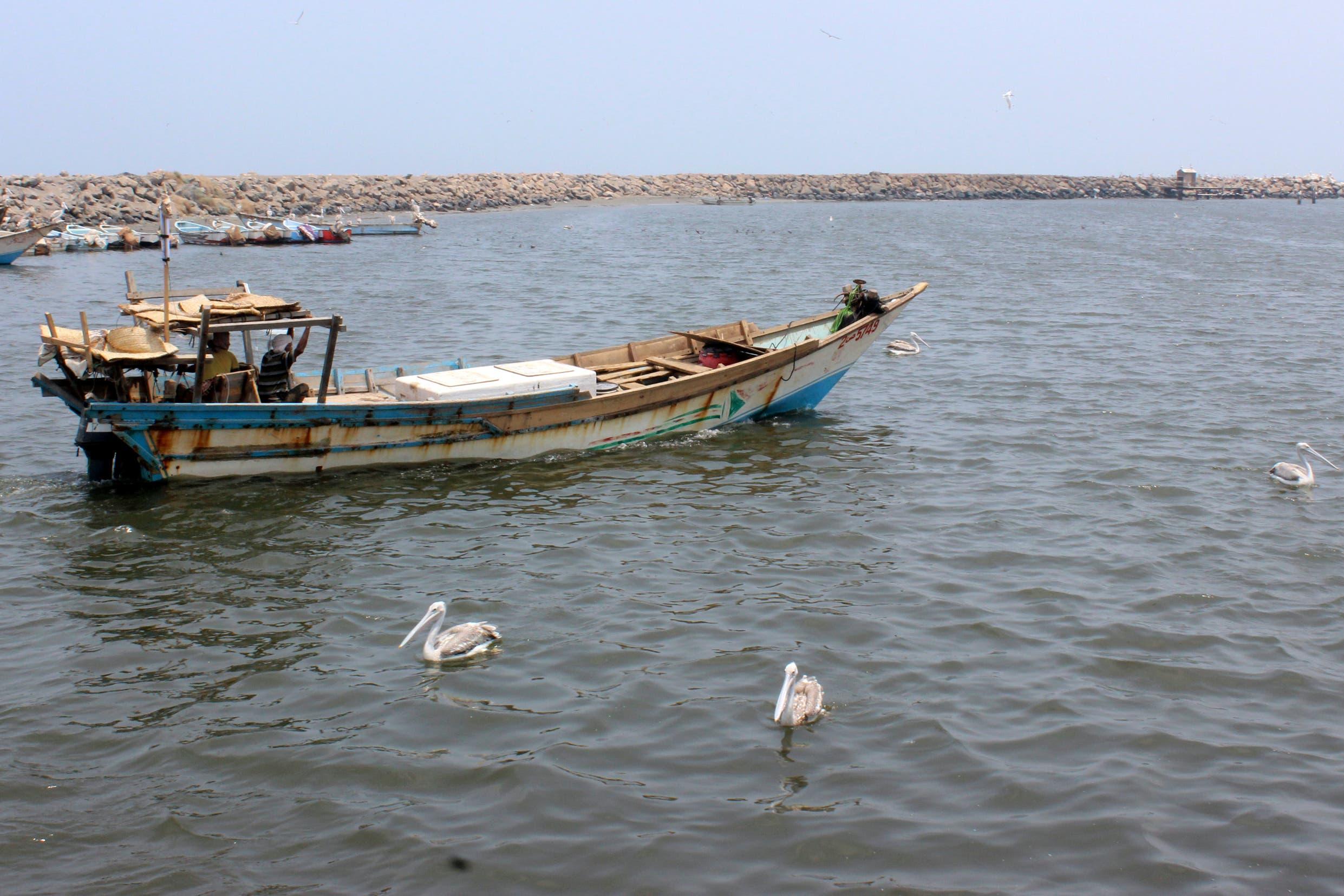 مركب صيد يمني في البحر اأحمر قبالة الحديدة (أرشيفية- فرانس برس)