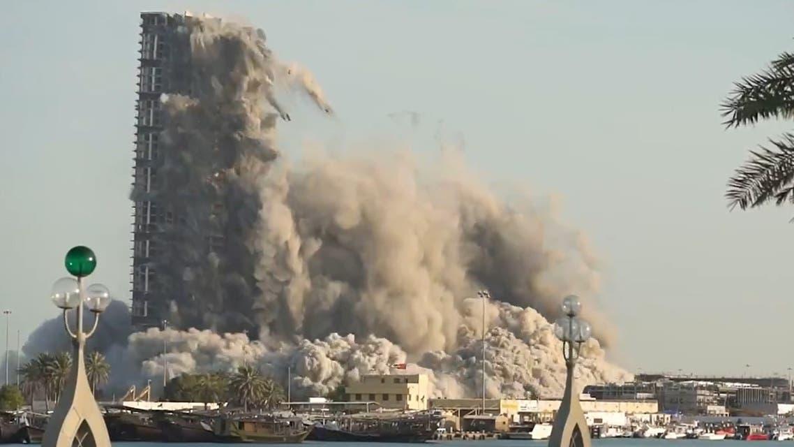 Abu Dhabi demolition. (Screengrab)