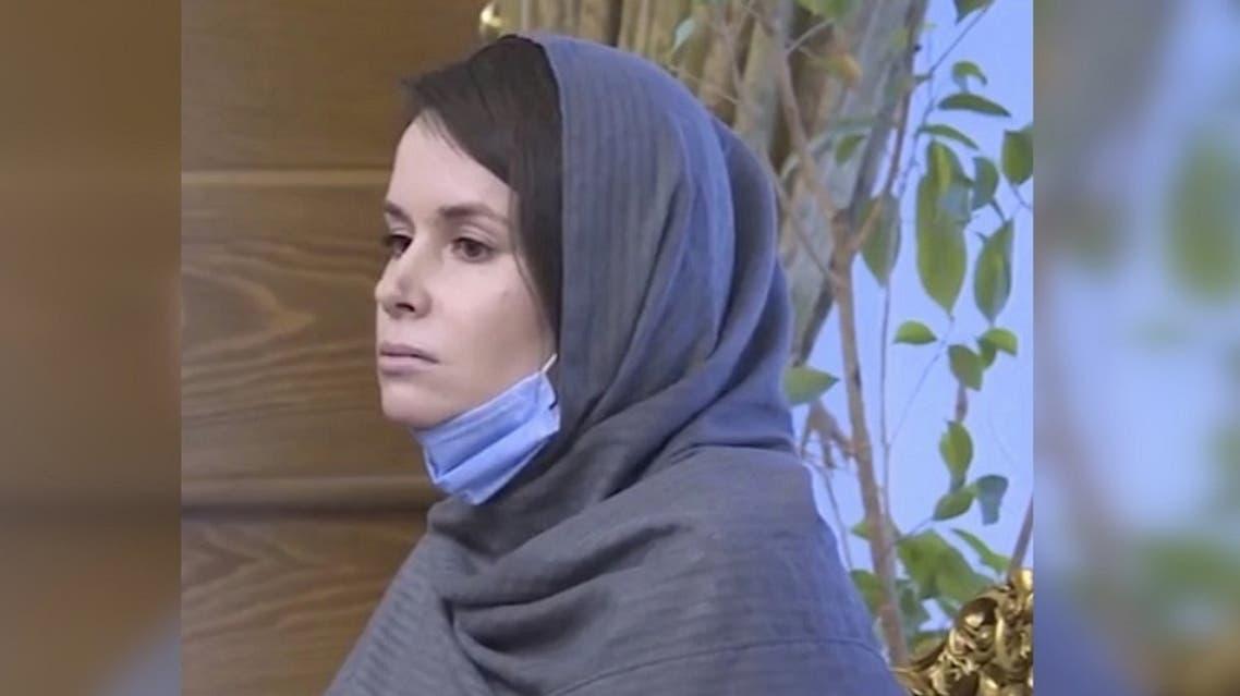 British-Australian academic Kylie Moore-Gilbert is seen in Tehran, Iran. (AP)