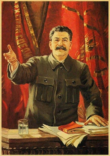 صورة دعائية لجوزيف ستالين
