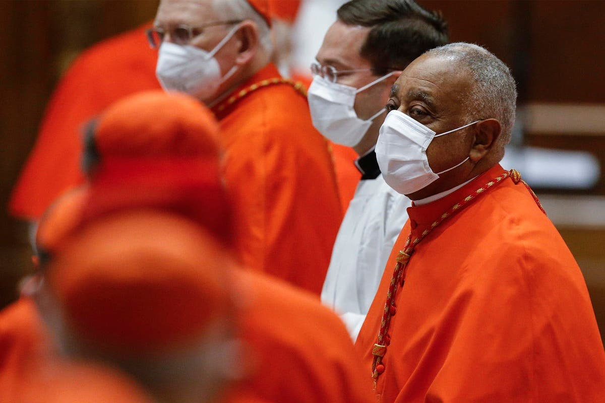 US Archbishop Wilton Gregory of Washington, attends a Pope's consistory to create 13 new cardinals, on November 28, 2020 at St. Peter's Basilica in The Vatican. (Fabio Frustaci/Pool/AFP)