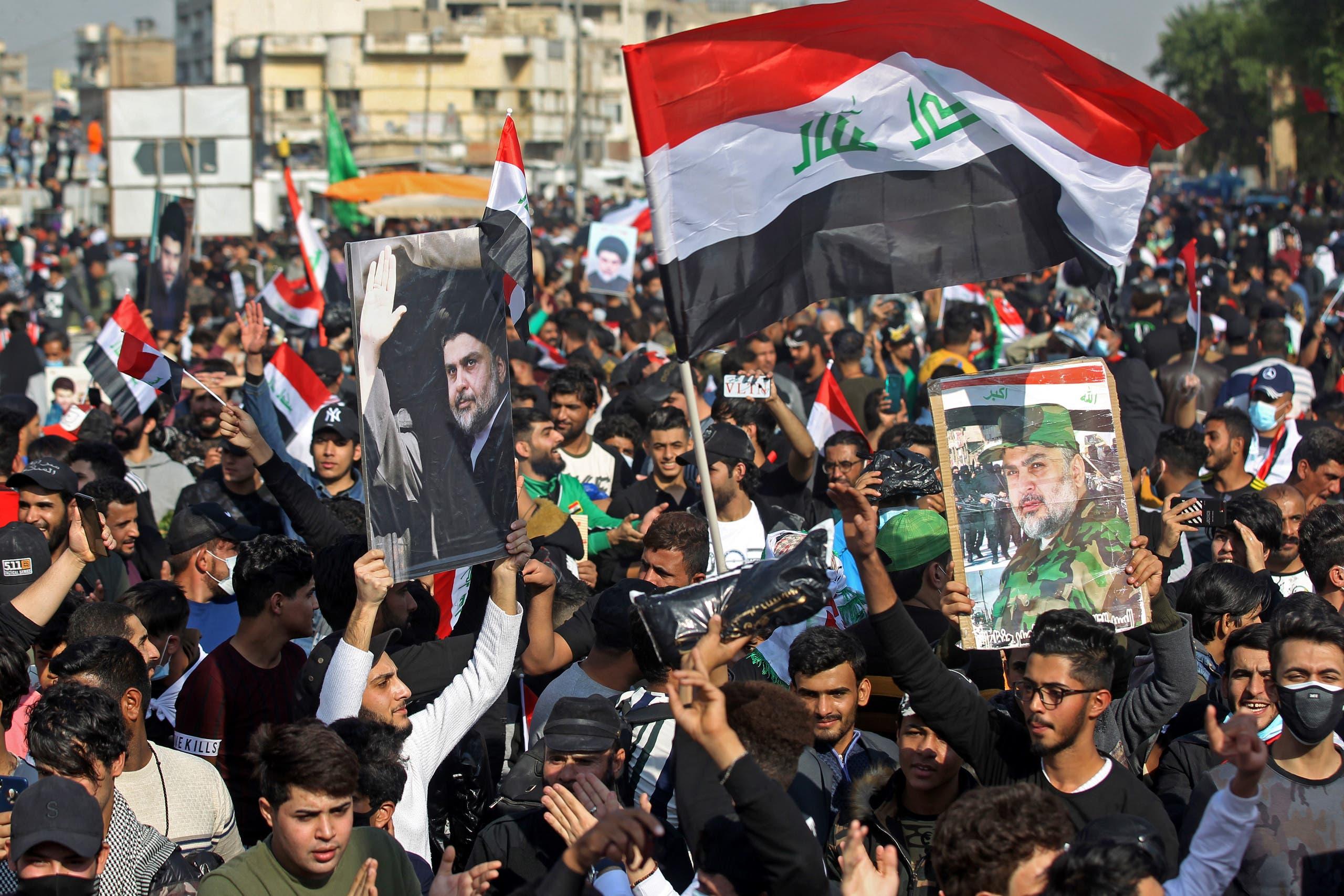 أنصار الصدر في بغداد (أرشيفية- فرانس برس)