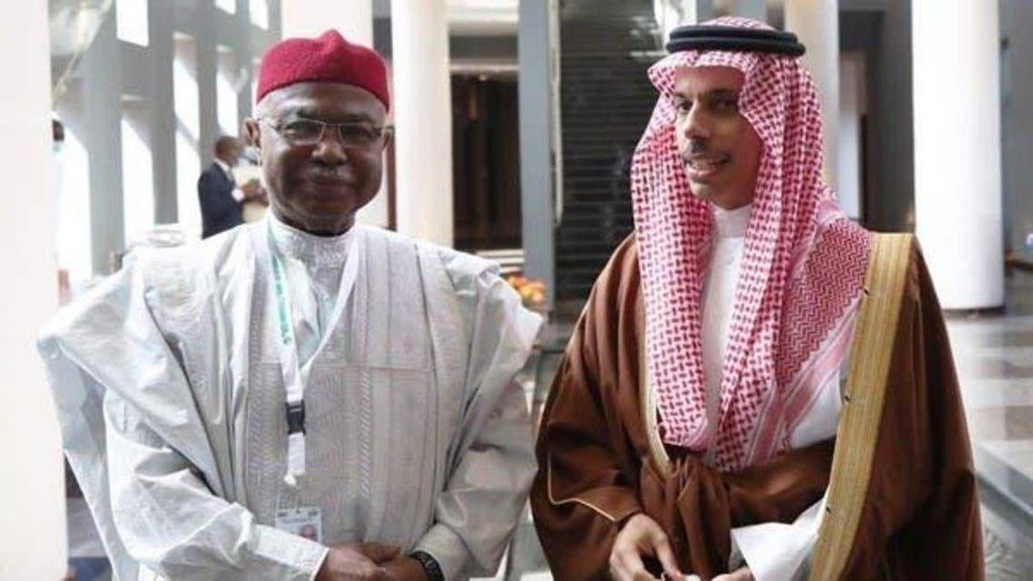 New OIC Sec Gen Hussain Ibrahim With Saudi FM