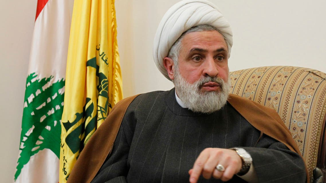 ebanon's Hezbollah deputy Sheikh Naim Qassem speaks during an interview with Reuters at his office in Beirut's suburbs, February 28, 2012. (File photo: Reuters)