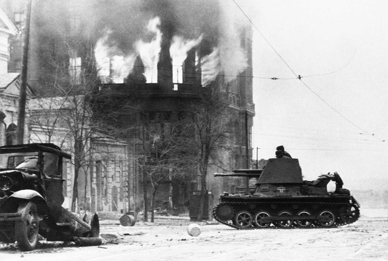 صورة لإحدى الدبابات الألمانية قرب روستوف