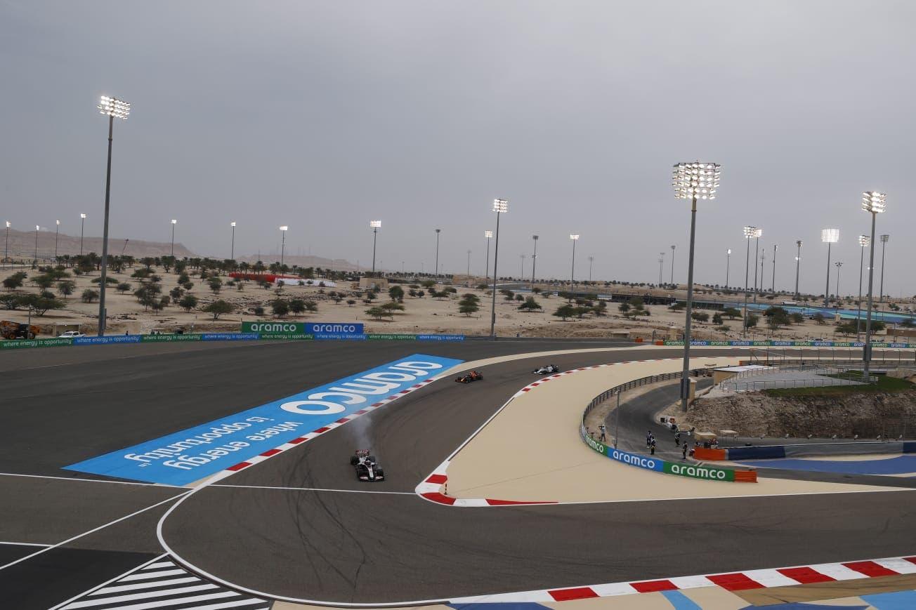 Saudi Aramco branding at the F1 track in Manama. (Supplied)