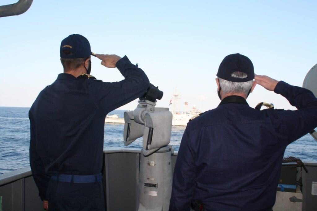 الصورة نقلا عن وزارة الدفاع القبرصية