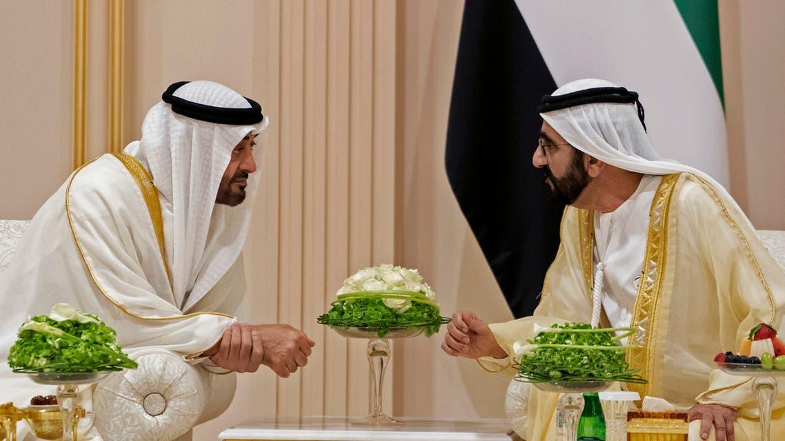 UAE's Sheikh Mohammed bin Zayed, Mohammed bin Rashid (AFP)