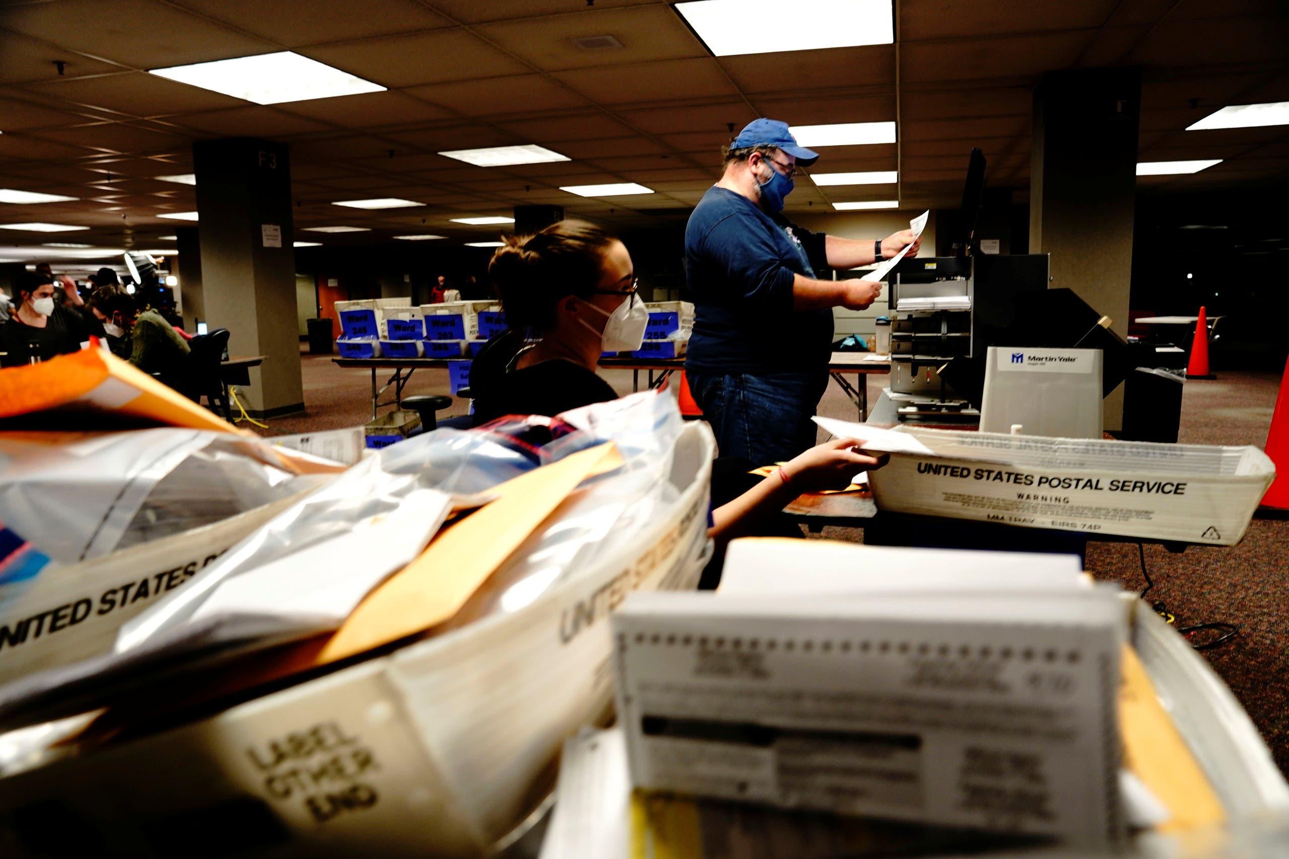 فرز أصوات المنتخبين عبر البريد في ويسكونسن في الانتخابات الماضية