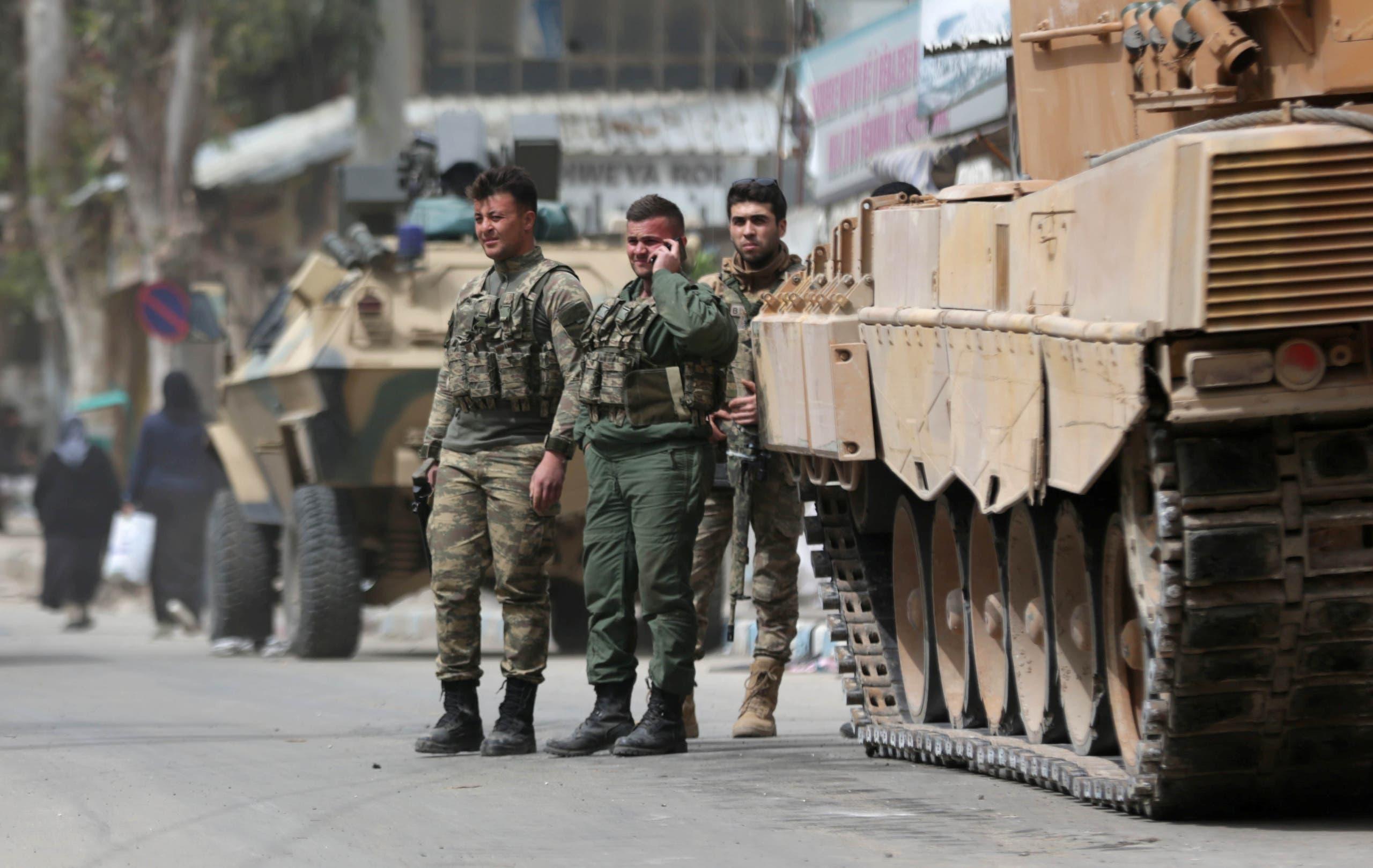 الجيش التركي داخل عفرين