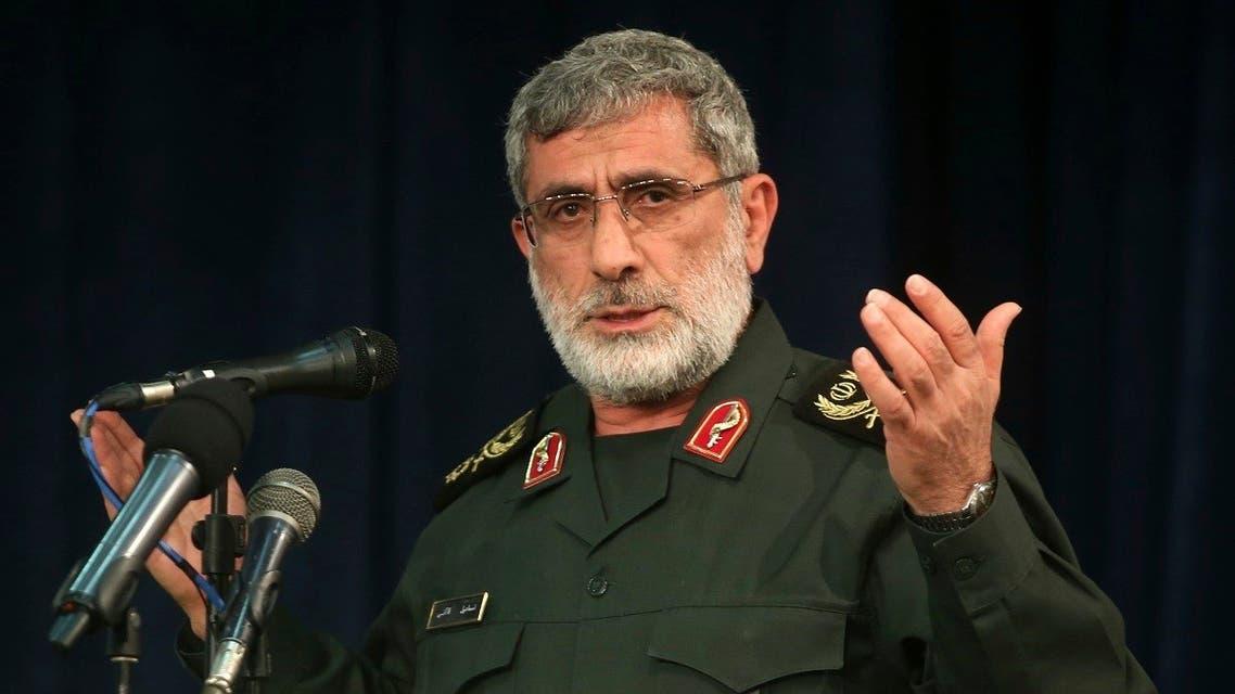 Quds Force commander Esmail Qaani speaks in a meeting in Tehran, Nov. 5, 2016. (AP)