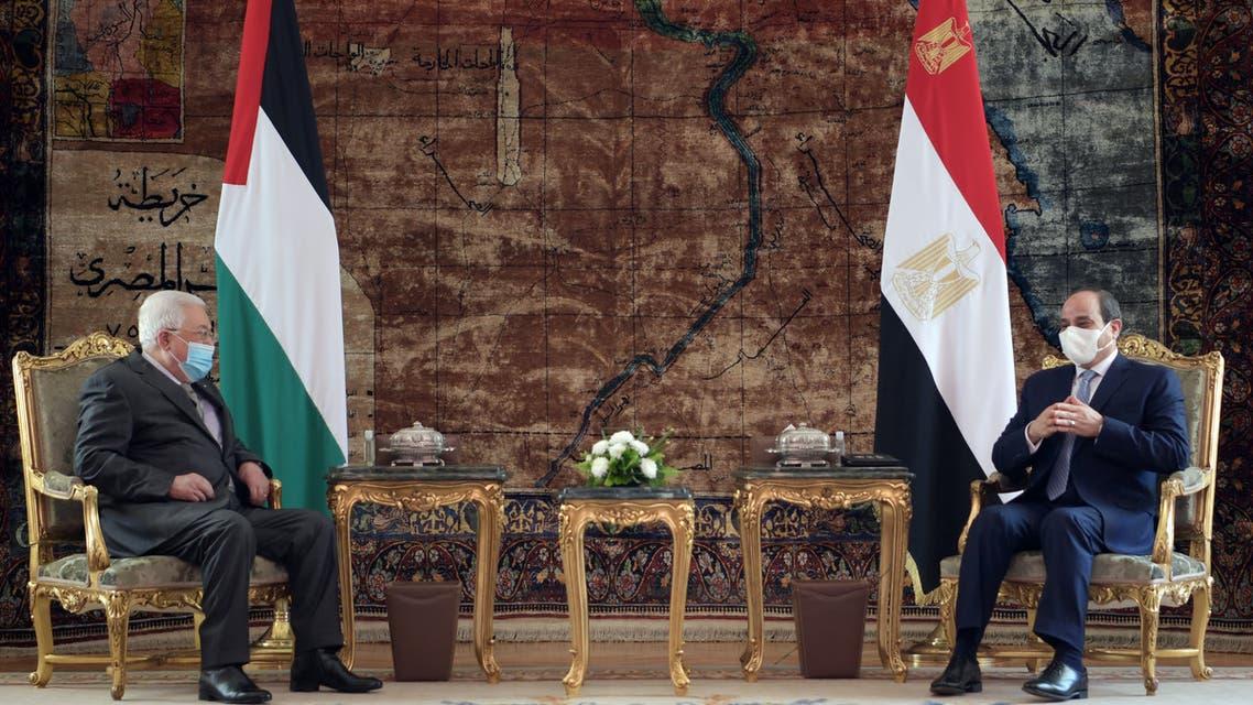 الرئيس السيسي يستقبل أبو مازن بالقاهرة
