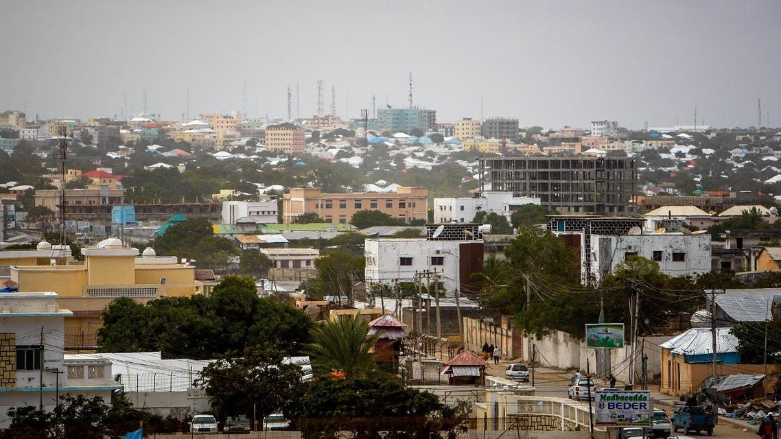 A file photo shows a general view of Mogadishu skyline looking toward the city center and central business district, August 5, 2013. (Stuart Price/AU-UN IST photo/AFP)