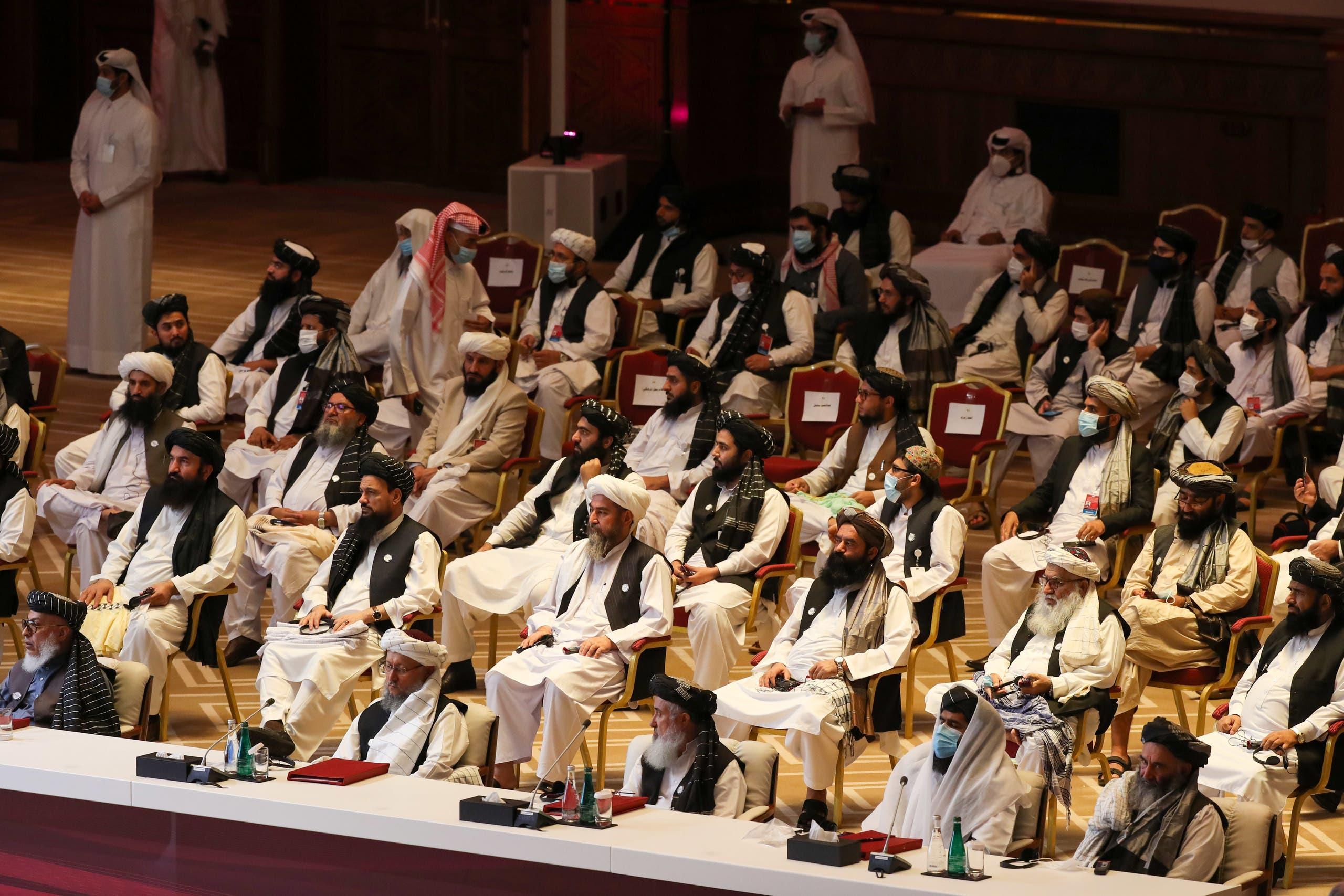 من مفاوضات طالبان في الدوحة (أ{شيفية)