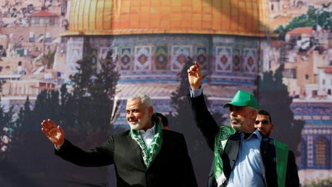 Hamas' Gaza leader, Yehya al-Sinwar Nad Ismael Haniyeh