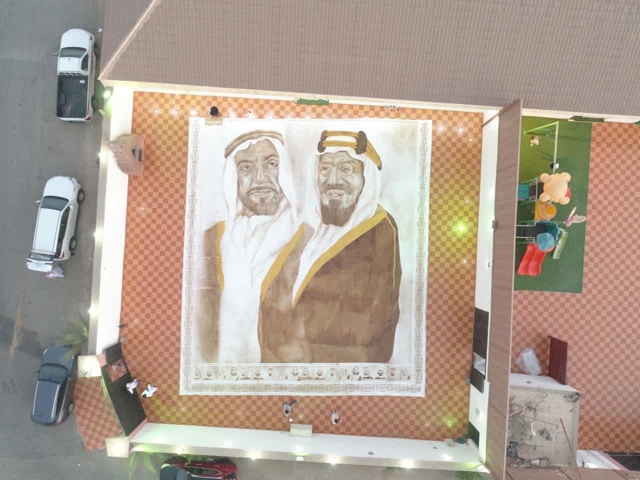 الملك عبدالعزيز والشيخ زايد