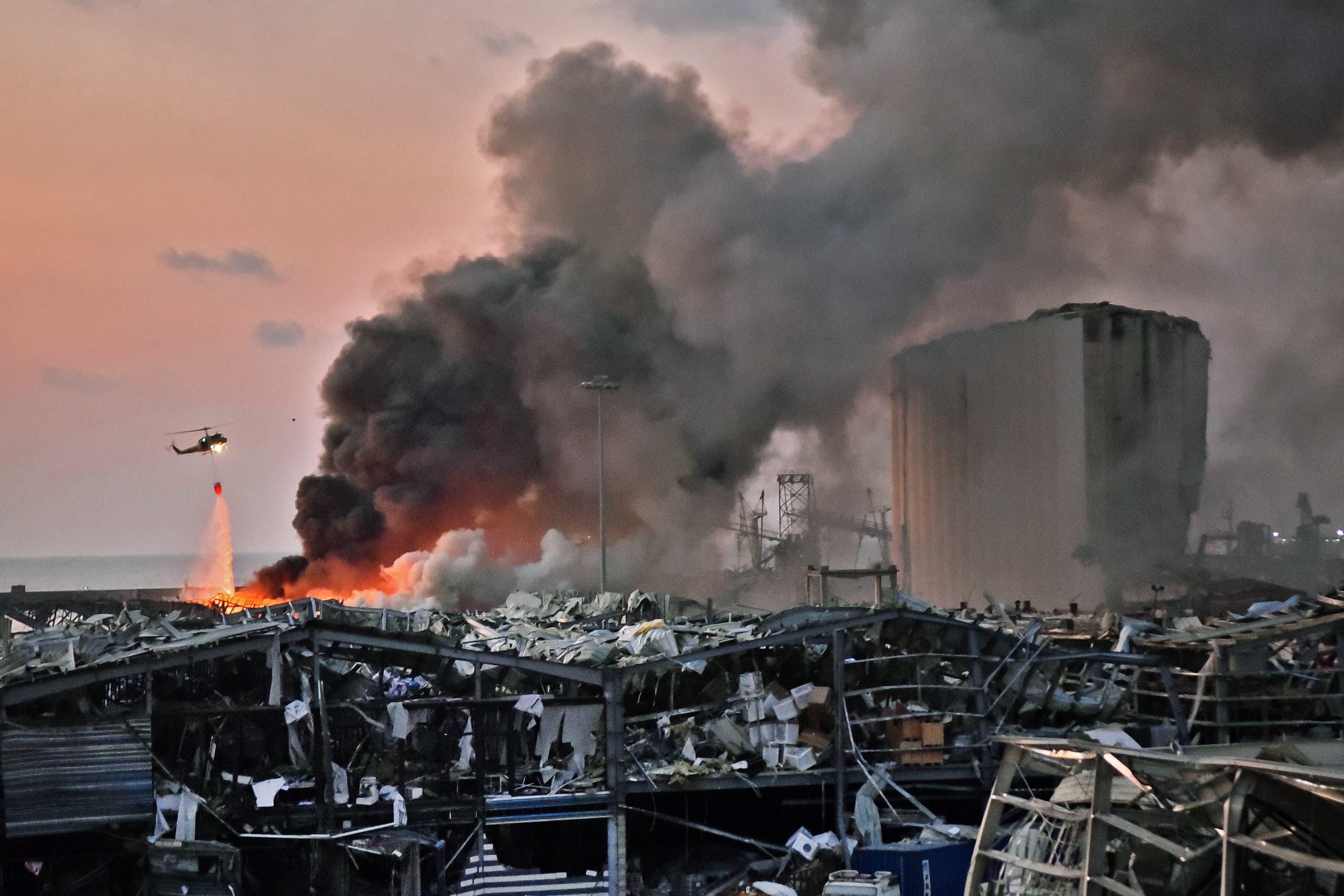 از انفجار در بندر بیروت در 4 آگوست