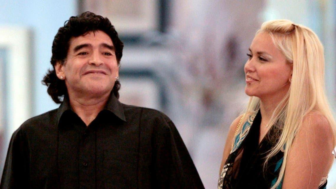 Maradona and his GF