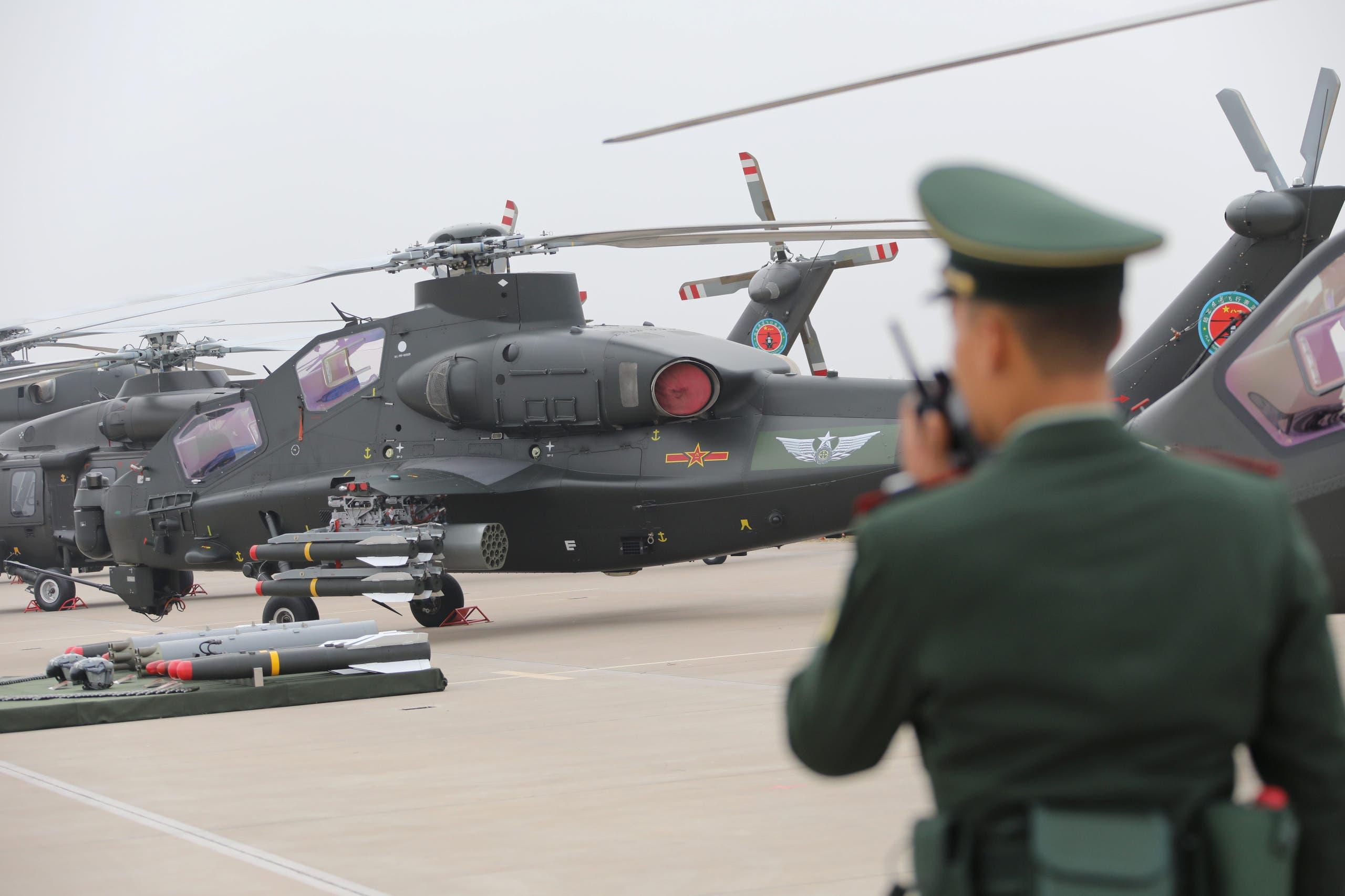 مروحيات عسكرية صينية خلال معرض للجيش الصيني العام الماضي