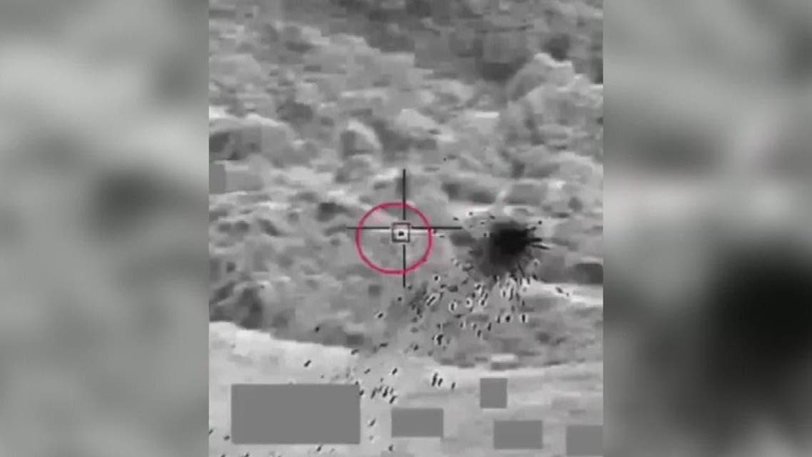 Houthis Drone targeted  by Arab Coliation