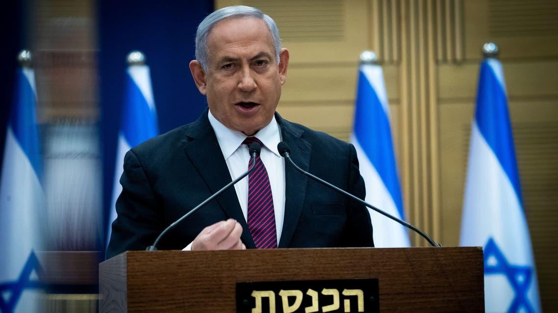 Israeli Prime Minister Benjamin Netanyahu delivers a statement to Likud party MKs at the Knesset (Israel's parliament) in Jerusalem, December 2, 2020. Yonatan Sindel/Pool via REUTERS