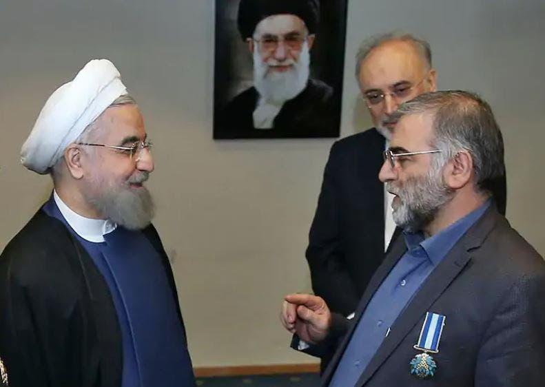 لقاء سابق بين فخري زاده والرئيس روحاني