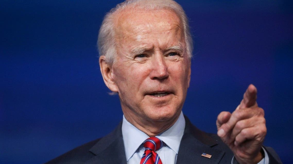 US President-elect Joe Biden speaks about the economy and the final US jobs report of 2020. (Reuters)