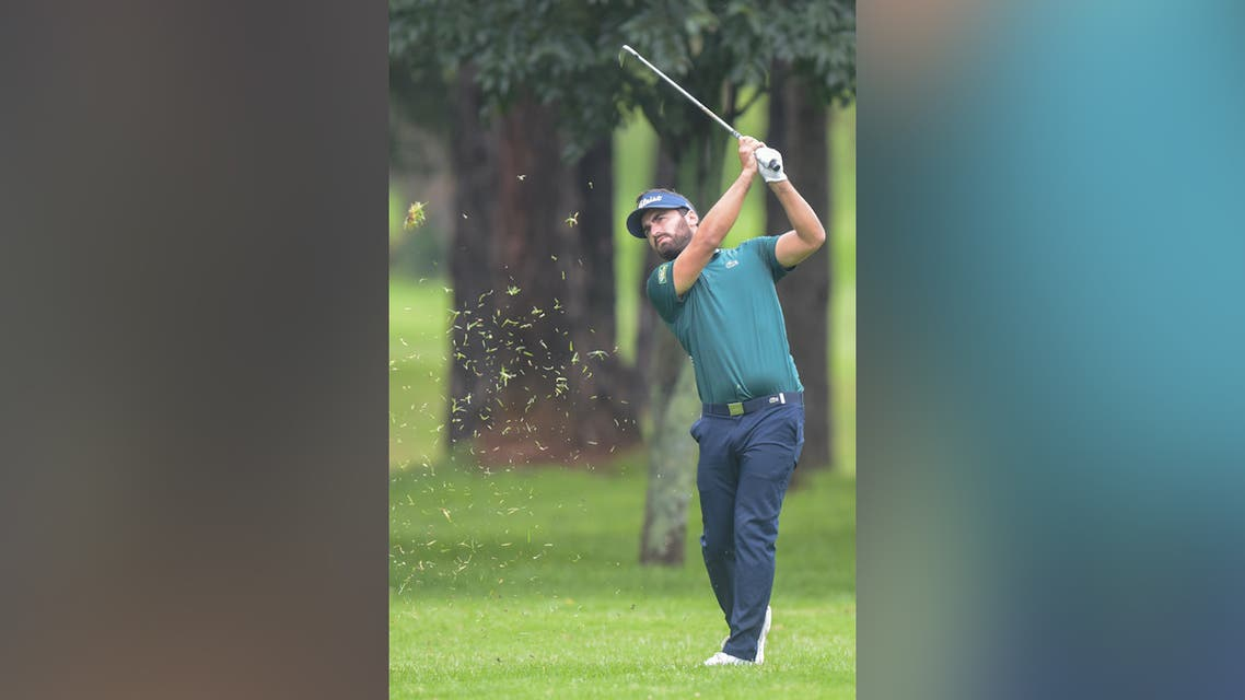 Antoine Rozner of France plays a shot during the final round of the Joburg Open golf tournament. (File photo: AFP)