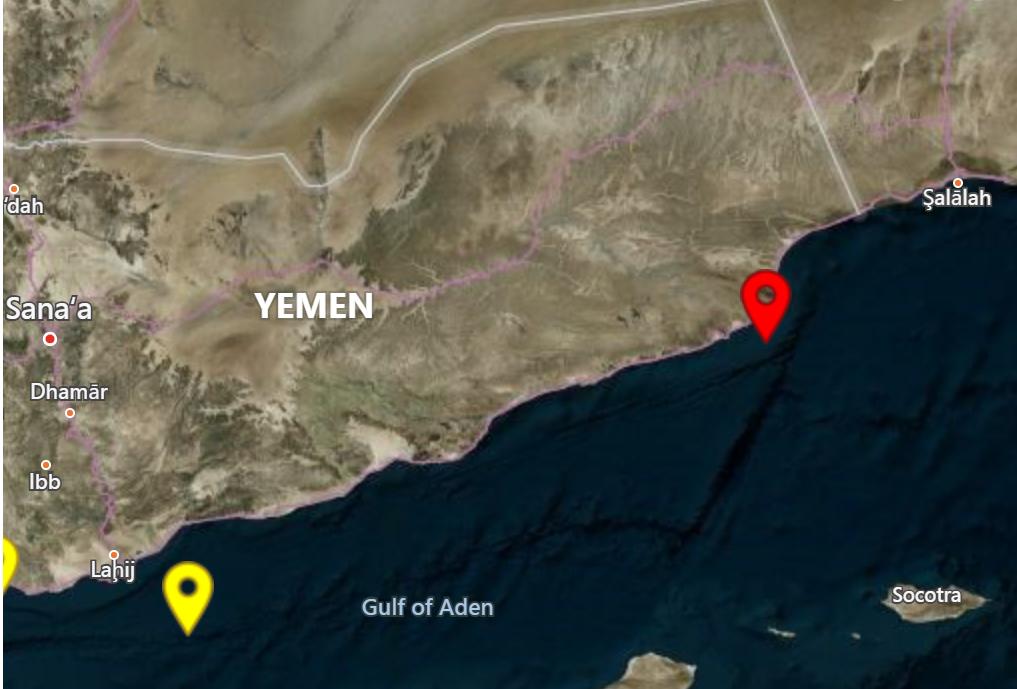 خريطة تظهر موقع الهجوم