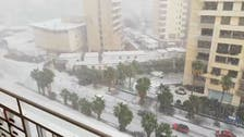 Beirut experiences a historical hailstorm, leaving a white blanket for hours