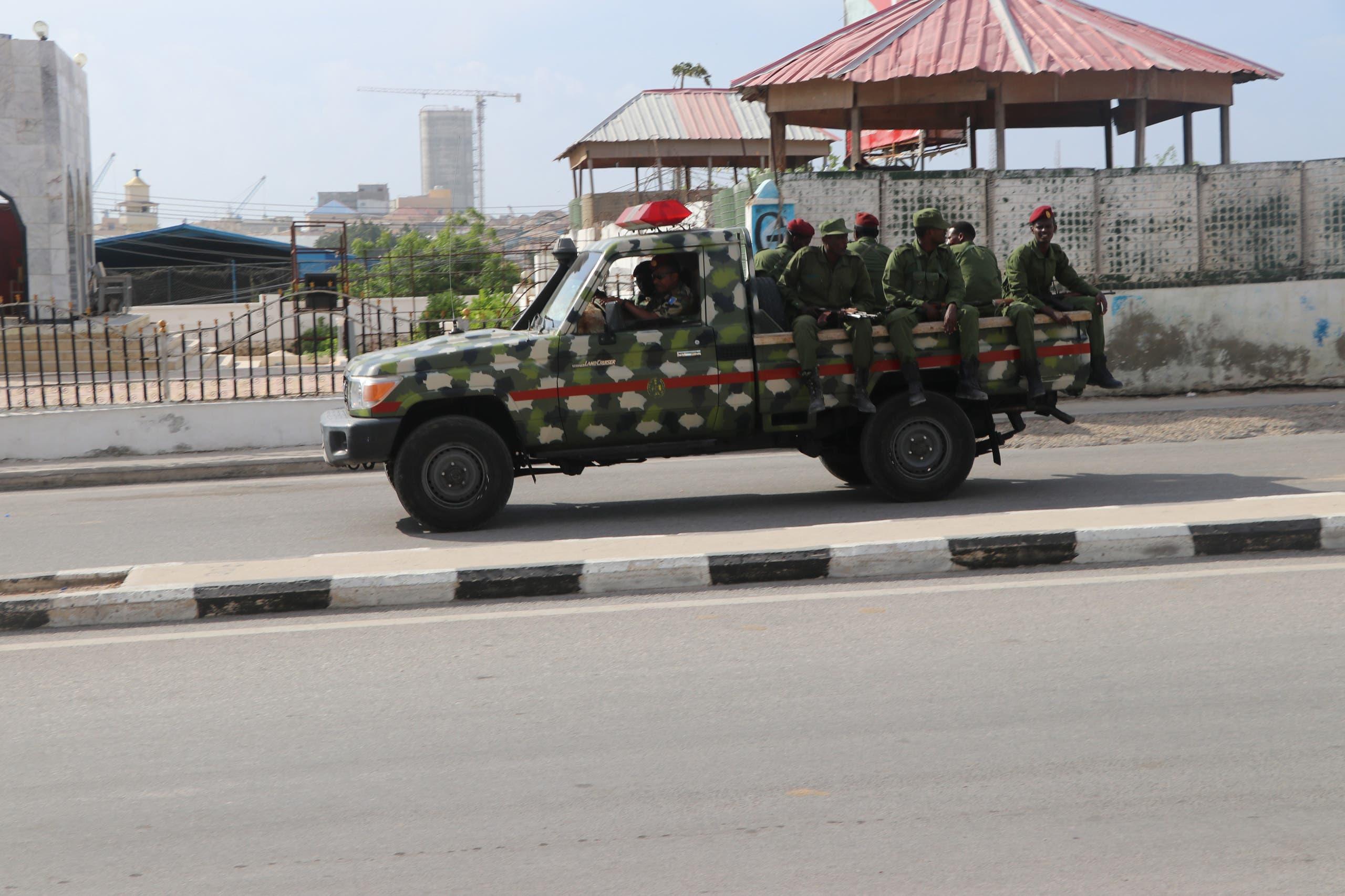 عناصر من الجيش الصومالي في العاصمة مقديشو