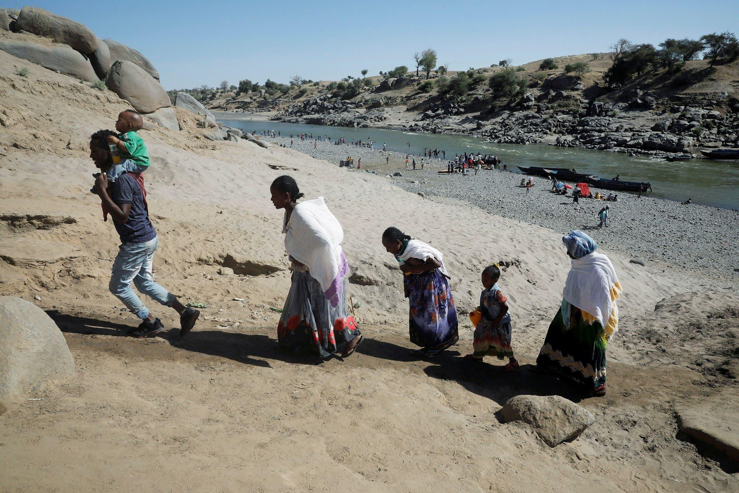 إثيوبيون يفرون إلى السودان هرباً من القتال في تيغراي