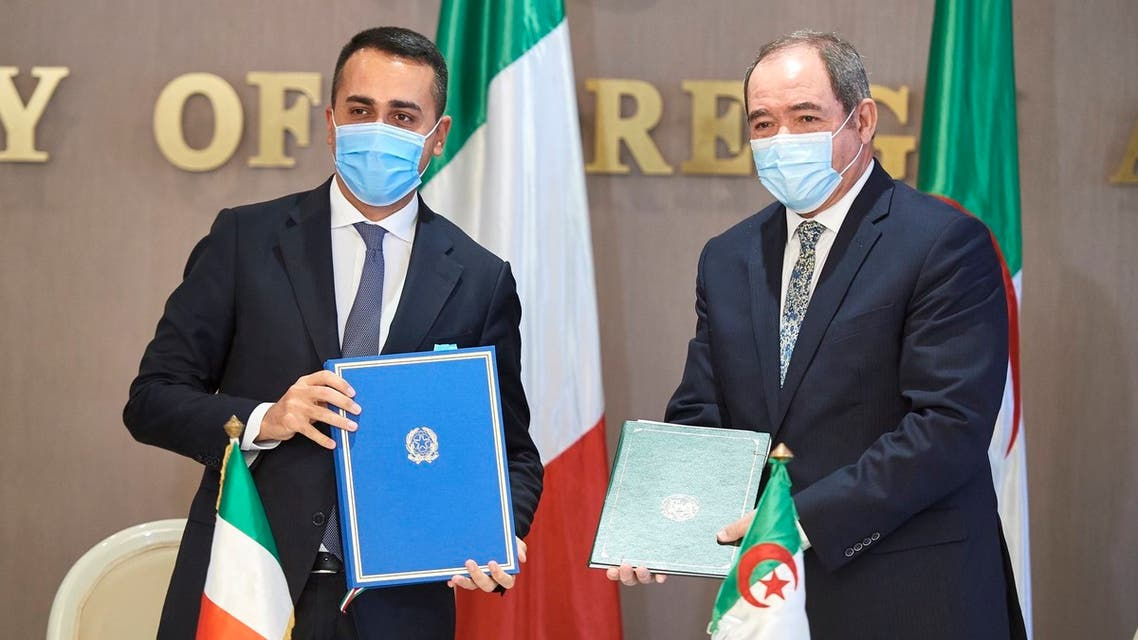 من زيارة وزير خارجية إيطاليا لودجي دي مايو إلى الجزائر 5 ديسبمر 2020