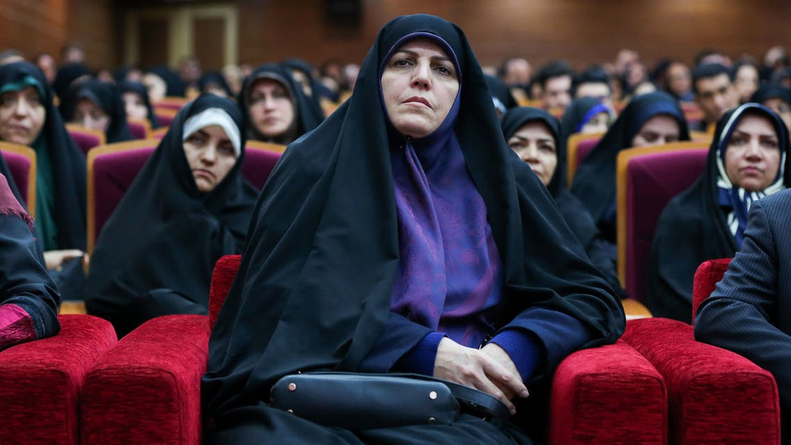 A handout picture provided by the Iranian President's office on December 24, 2018, shows former vice-president for women's affairs Shahindokht Molaverdi during a ceremony at the presidential office in the capital Tehran.