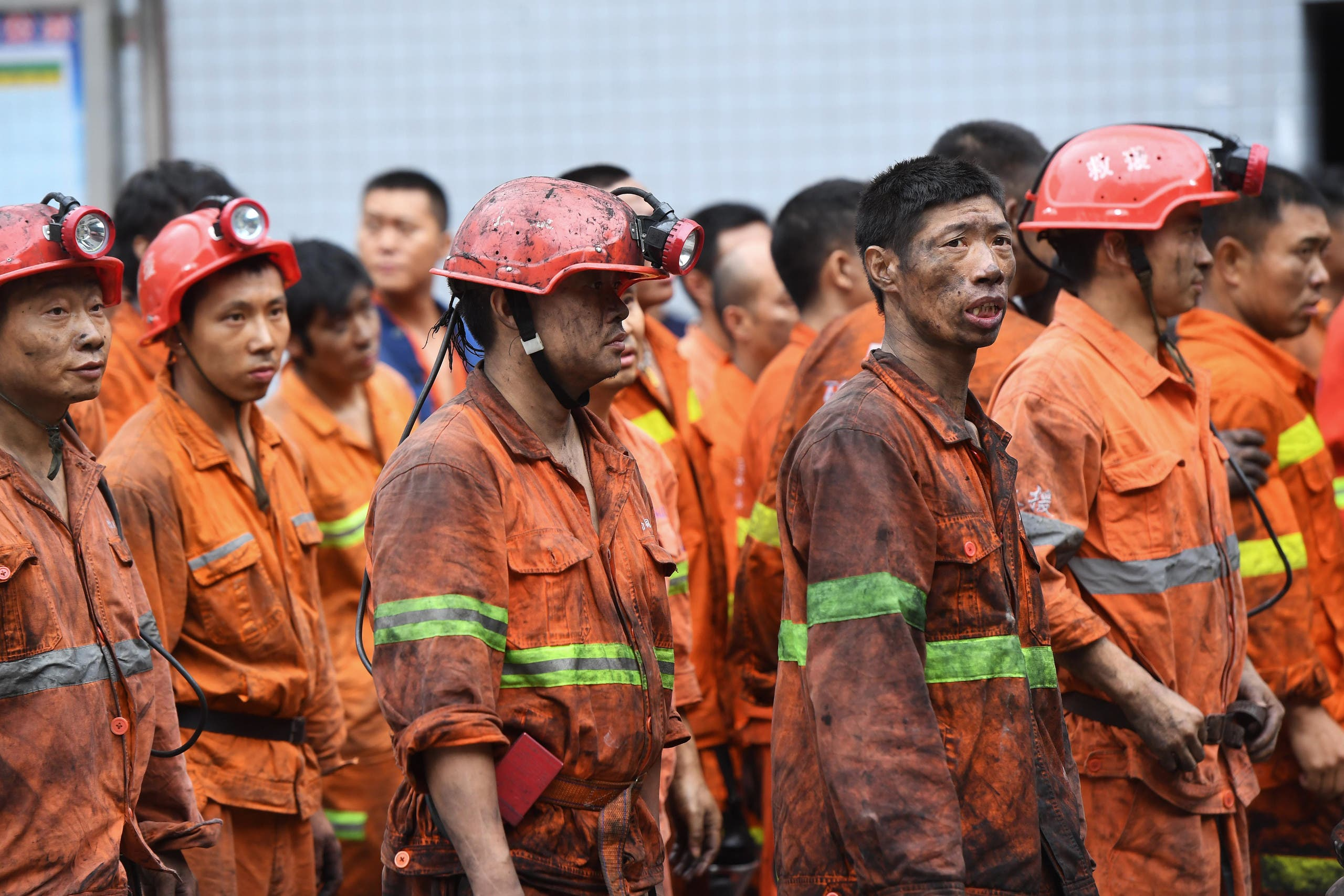 Mining accidents are common in China. In this file photo, rescuers wait outside the Songzao Coal Mine near Chongqing, in southwest China on September 27, 2020. (File photo: AFP)