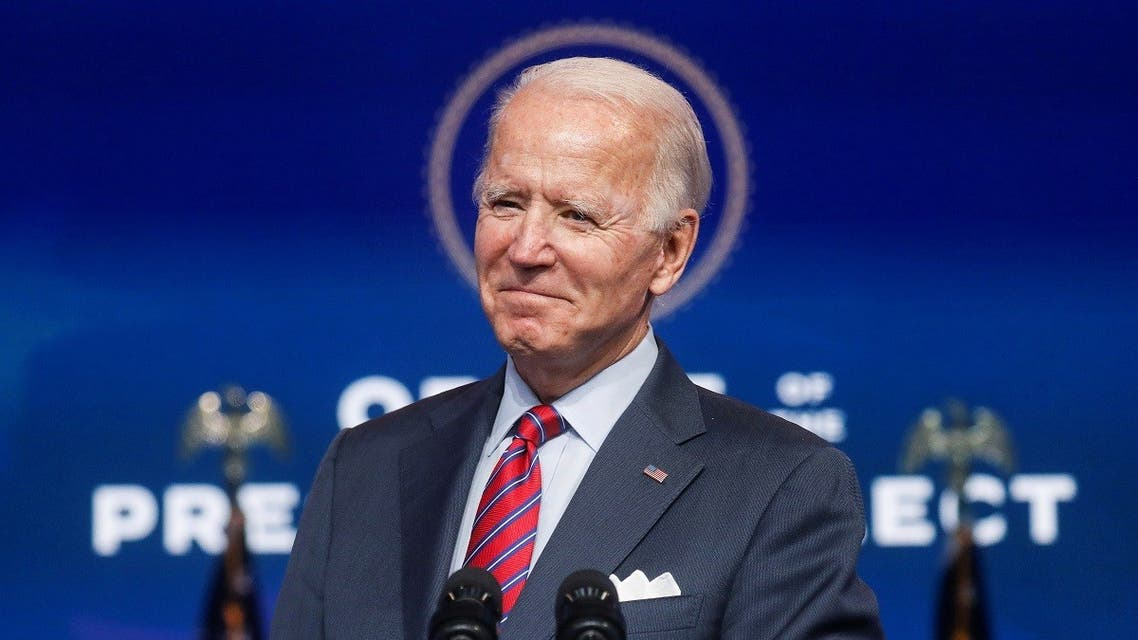 Biden speaks about the economy and the final US jobs report of 2020 at his transition headquarters in Wilmington, Delaware. (File photo: Reuters)