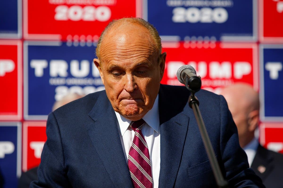 Former New York City Mayor Rudy Giuliani, personal attorney to President Donald Trump, speaks after media announced that Democratic presidential nominee Joe Biden has won the 2020 US presidential election, Philadelphia, Pennsylvania, November 7, 2020. (Reuters)