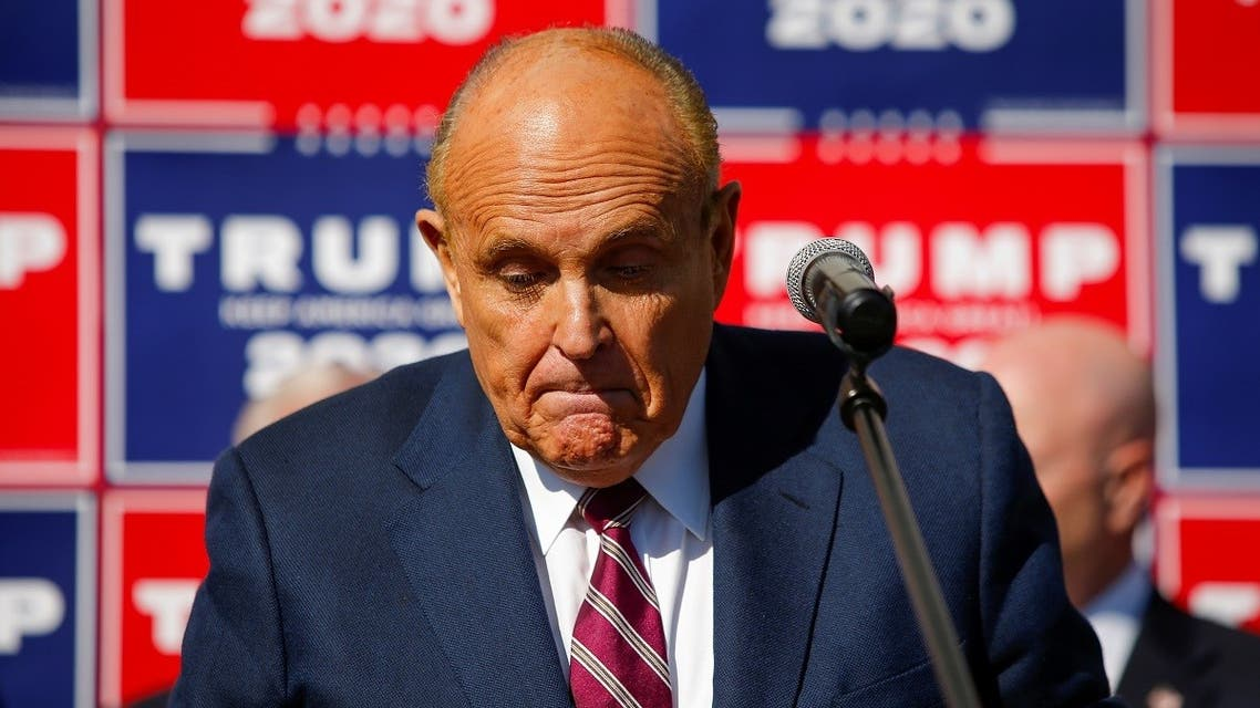 Former New York City Mayor Rudy Giuliani, personal attorney to President Donald Trump, speaks after media announced that Democratic presidential nominee Joe Biden has won the 2020 US presidential election, Philadelphia, Pennsylvania, November 7, 2020. (Reuters/Eduardo Munoz)
