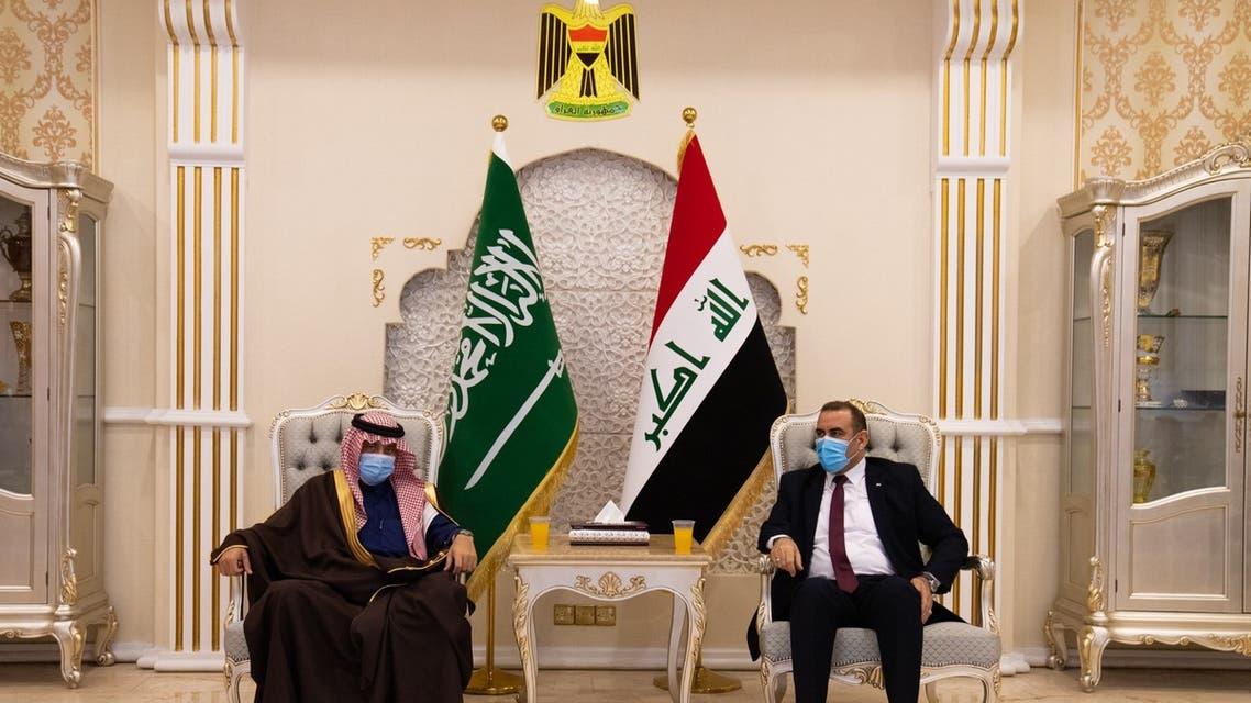 A Saudi Arabian delegation arrived in Baghdad led by Dr. Majid al-Qassabi, Saudi Arabia's Minister of Commerce and Acting Minister of Media. (SPA)