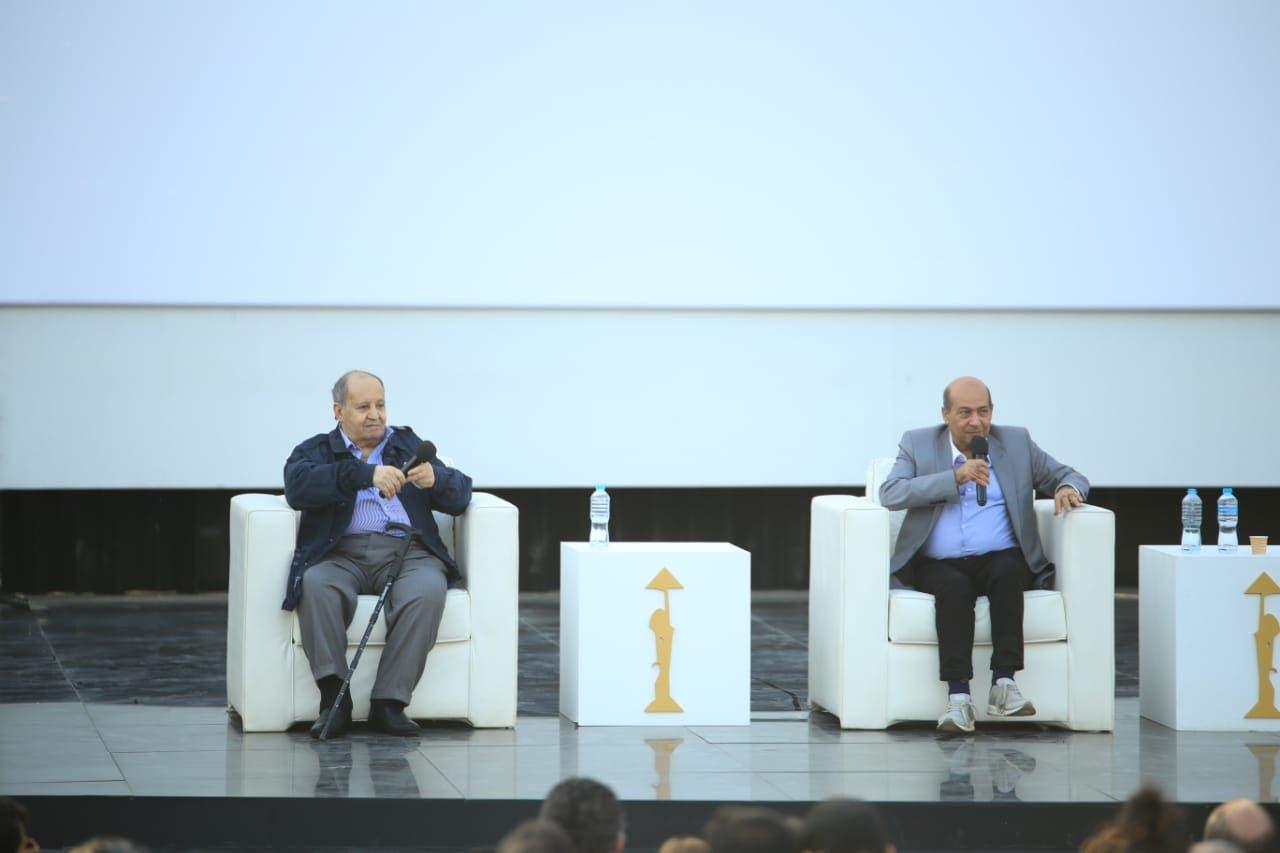 تكريم وحيد حامد خلال مهرجان القاهرة