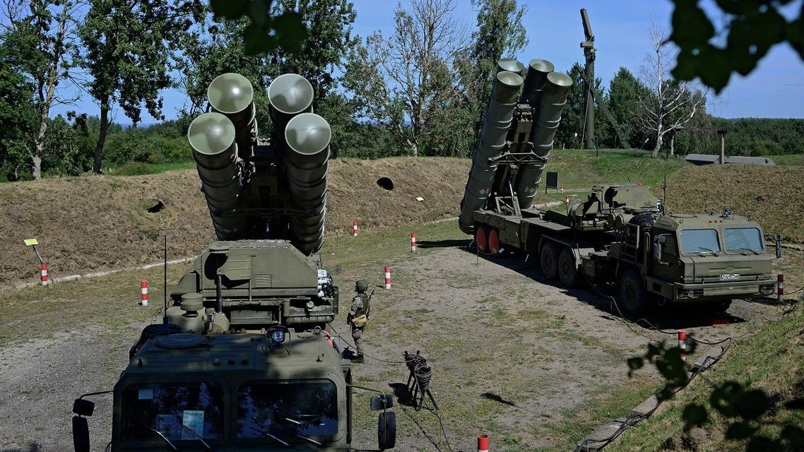 Russian S-400 missile air defense systems are seen during a training exercise at a military base in Kaliningrad region, Russia August 11, 2020. (Reuters/Vitaly Nevar)