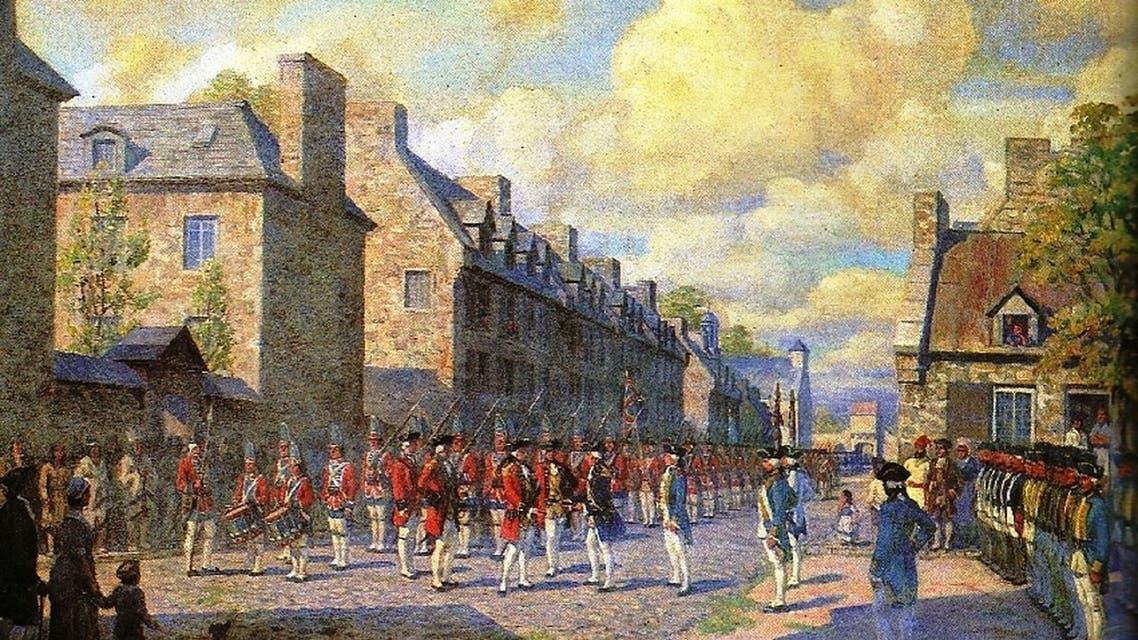 لوحة تجسد استسلام مونتريال عام 1760