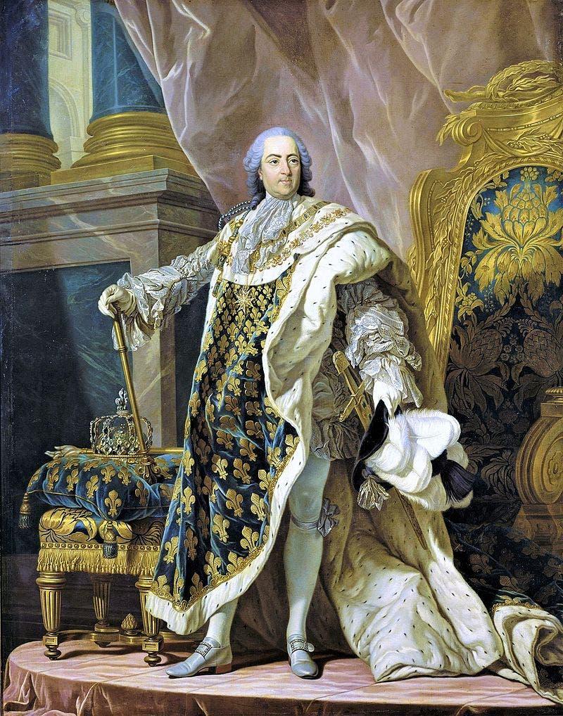 لوحة تجسد الملك لويس الخامس عشر