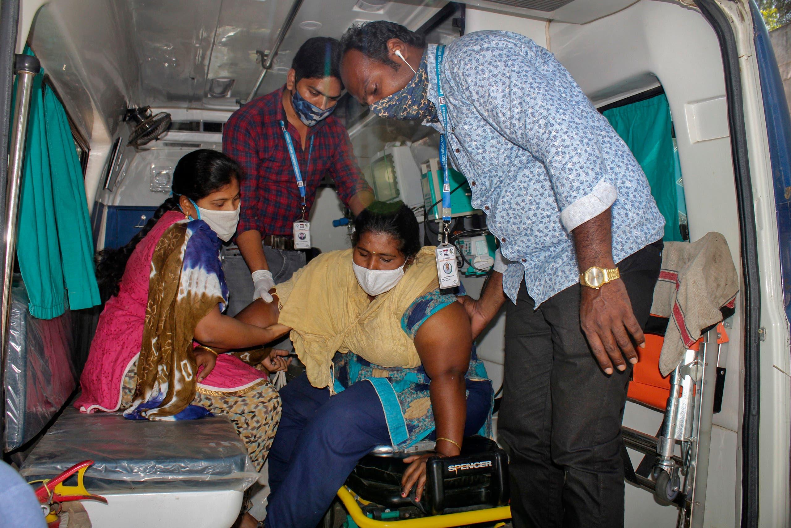 نقل مصابين للمستشفى