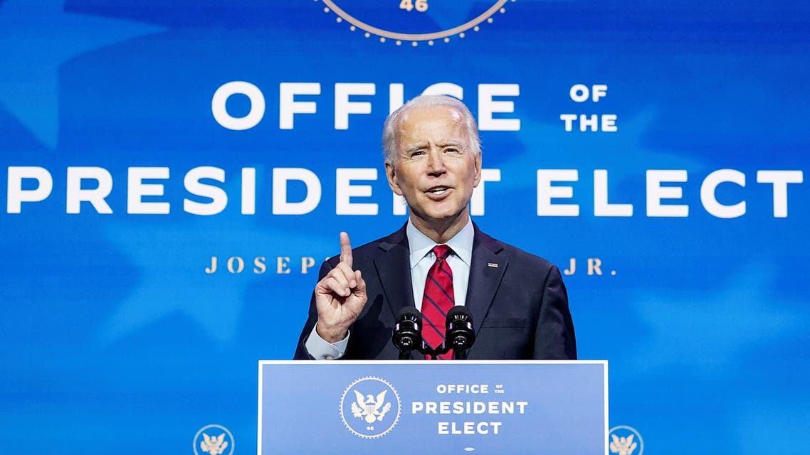 U.S. President-elect Joe Biden announces nominees and appointees to serve on his health and coronavirus response teams during a news conference at his transition headquarters in Wilmington, Delaware, U.S., December 8, 2020. REUTERS/Kevin Lamarque