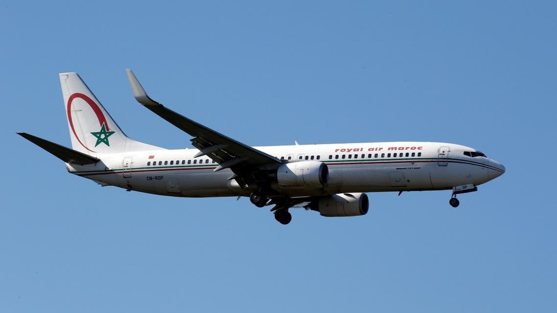 The CN-ROP Royal Air Maroc Boeing 737 makes its final approach for landing at Toulouse-Blagnac airport, France. (Reuters)