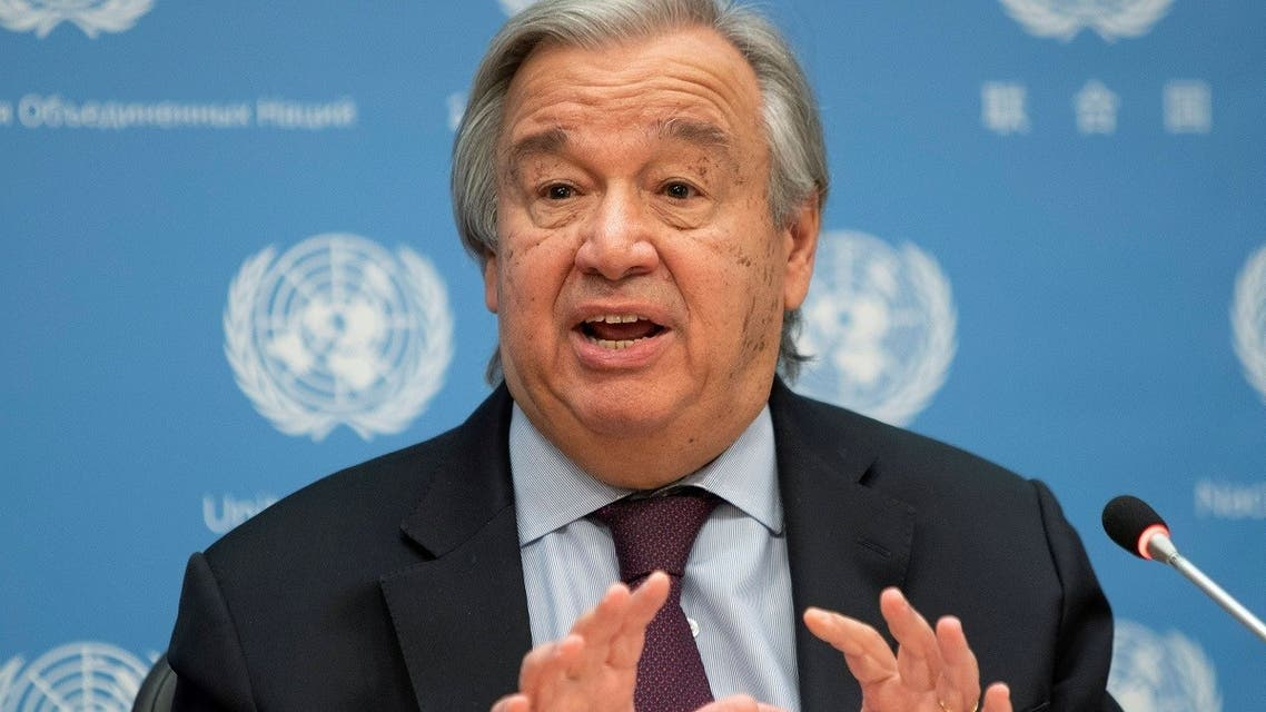 United Nations Secretary-General Antonio Guterres speaks during a news conference at U.N. headquarters in New York City. (Reuters)