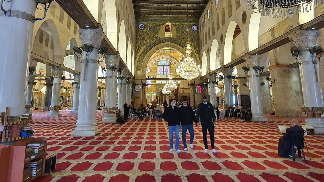 Emiratis visit one of the mosques at Al Aqsa compound in East Jerusalem. (Supplied)