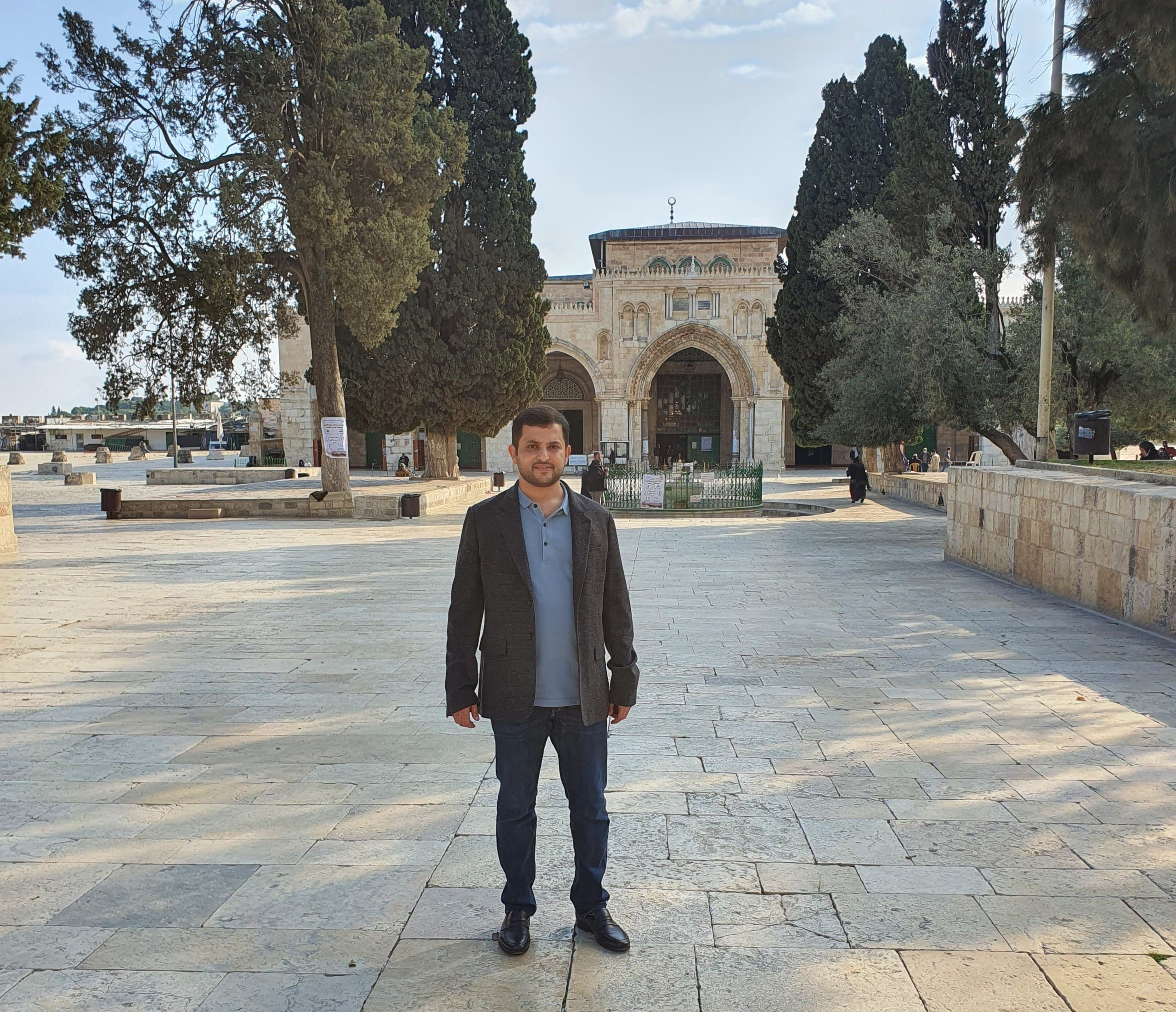 Ahmad Harib in the Al Aqsa compound in East Jerusalem. (Supplied)