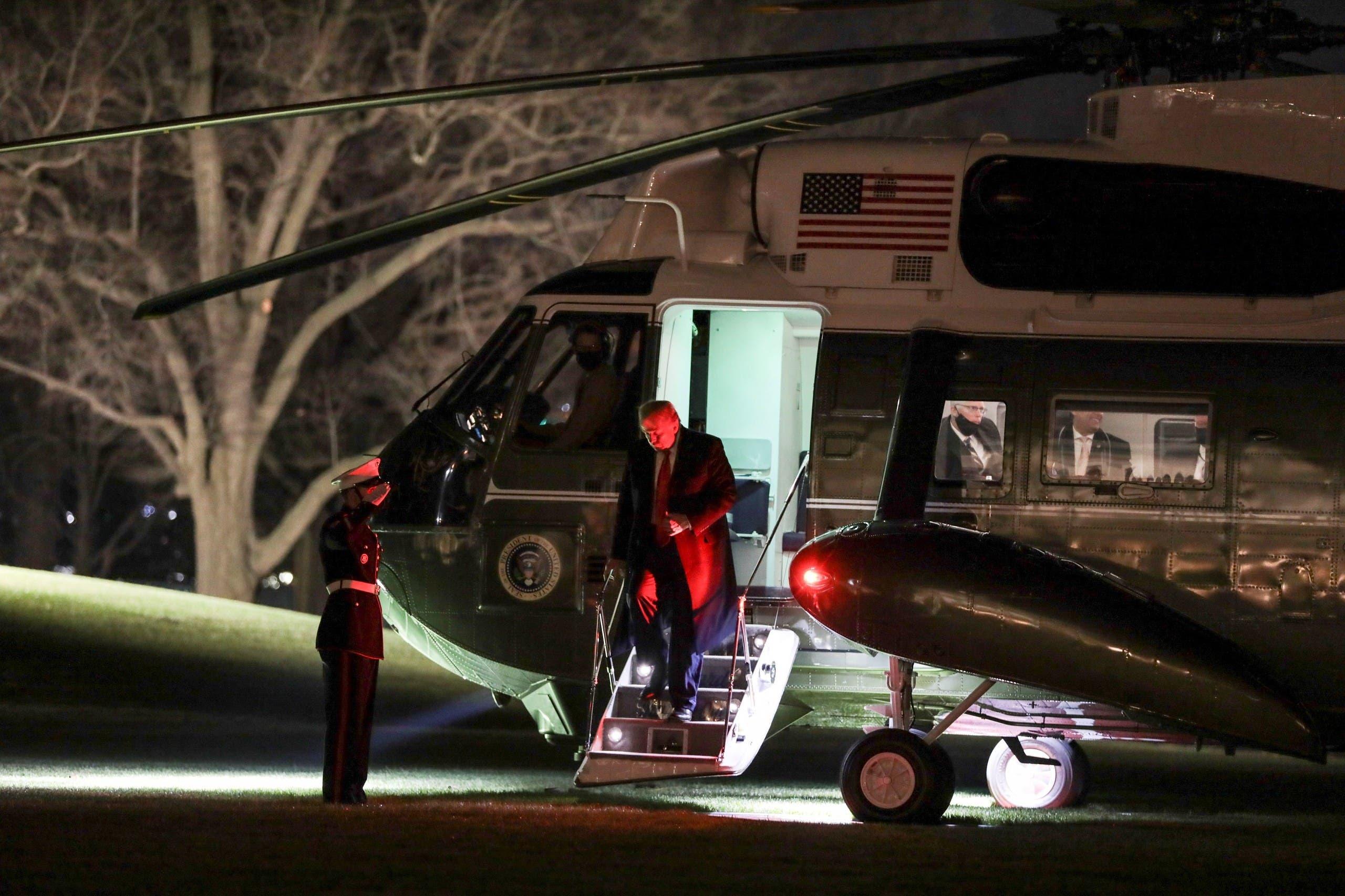 وصول الرئيس ترمب إلى نيويورك
